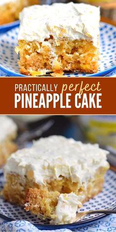 Pineapple Cake Mix Recipe, Pinapple Cake, Easy Pineapple Cake, Pineapple Dessert Recipes, Pineapple Dream Cake, Crushed Pineapple Cake, Pineapple Ideas, Pineapple Glaze, Baked Pineapple