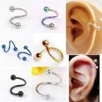 Wish | Pick 16G Stainless Steel Flexo Twist Helix Cartilage Ring Earring Piercing Lots