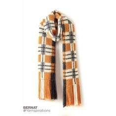 Big Tartan Crochet Super Scarf: FREE crochet scarf pattern