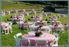 Nice… I envision this for an employee family picnic – corporate event design Summer Bbq, Summer Picnic, Picnic Theme, Picnic Style, Country Picnic, Corporate Event Design, Western Parties, Family Picnic, Company Picnic