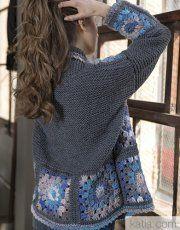 Fabulous Crochet a Little Black Crochet Dress Ideas. Georgeous Crochet a Little Black Crochet Dress Ideas. Black Crochet Dress, Crochet Coat, Crochet Cardigan Pattern, Crochet Jacket, Crochet Blouse, Crochet Clothes, Crochet Bolero, Crochet Granny, Knit Art