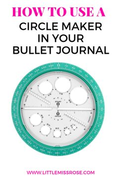 This simple tool can help you simply create circular layouts in your bullet journal, such as circular habit trackers, monthly logs and weekly spreads! Making A Bullet Journal, Bullet Journal Contents, Bullet Journal For Beginners, Bullet Journal How To Start A, Bullet Journal Junkies, Bullet Journal Layout, Bullet Journal Inspiration, Journal Ideas, Bullet Journals