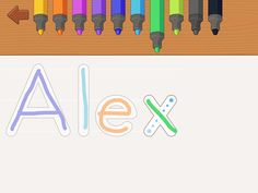 Handwriting app - teaches letter & number formations; practice name & words too