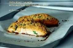 Filetti di salmone al forno con panatura di senape e prezzemolo