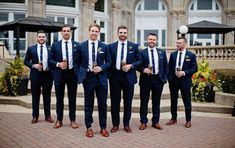 Ideas for wedding party attire fall groomsmen Colorful Wedding Shoes, Wedding Colors, Wedding Flowers, Bridesmaids And Groomsmen, Wedding Bridesmaids, Navy Suits Groomsmen, Bridesmaid Ideas, Men In Navy Suits, Dream Wedding