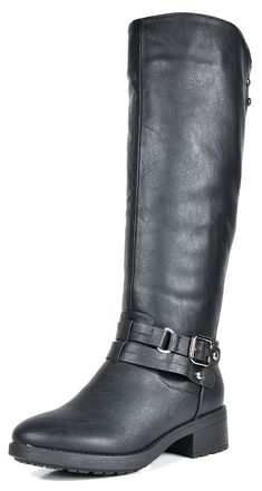 DREAM PAIRS Women's Uncle Black Knee High Motorcycle Riding Winter Boots Size 9 M US
