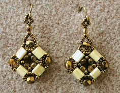 Linda's Crafty Inspirations: Layered Tila Earrings (BASED ON A FREE PATTERN)