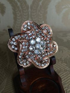 rose gold brooch for bouquet brooch for DIY by TheCrystalFlower, $28.00