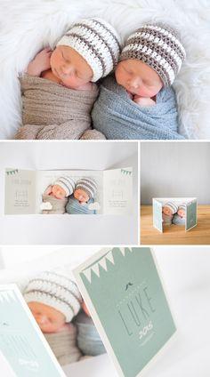 Geboortekaartje-Tweeling-jongens