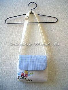 子供ショルダーバッグ - 5番の刺繍糸
