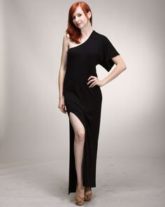 Alexandra says: A not so little black dress, this va va voom black dress will be sure to steal the show any night or day whether you're going for a casual look or something a little bit more sassy. Sexy Maxi Dress, Casual Looks, Sassy, Normcore, Legs, Night, Black, Dresses, Fashion