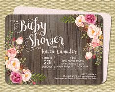 Baby Shower Invitation Baby Girl Shower by SunshinePrintables