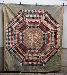 AWESOME  1800's Antique SUNBURST Quilt, Etsy, TextilesandOldThings,
