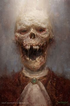 Vampire Corpse Concept Art by Jason Horley Dark Fantasy, Fantasy Art, Art Zombie, Ange Demon, World Of Darkness, Cthulhu, Horror Art, Skull Art, Dracula