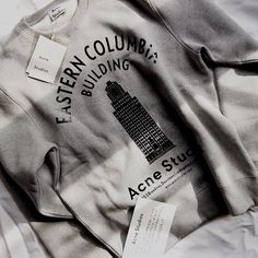 The #AcneStudiosLA Eastern Columbia Building anniversary sweatshirt, coming soon.   Photo: @gregorydava on Instagram