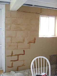 The Art Of The Home: Turning A Cinder Block Wall Into A Faux Stone Wall,  Maybe If We Make Some Of The Garage Into Living Space, This Would Look  Awesome.