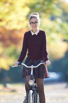 Fall layering bike style