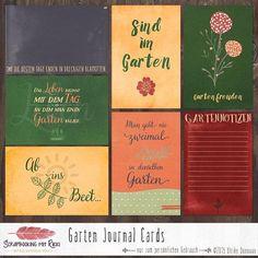 Digitale Downloads - Garten Scrapbook 4x6 Journaling Karten - ein Designerstück von Rikki_Donovan bei DaWanda