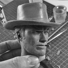 A brilliant likness of Clint Eastwood sculpted by artist Samuel Swanborough (@swansamuel) as part of a  commissioned 1/4 scale Cowboy figure that you can check out on his page. Sculpted in Monster Clay. -- #clinteastwood #cowboy #sculpt #sculpture #spfx #sfx #badass #clay #youfeelinglucky #figure #statue #comission #monsterclay #dirtyharry