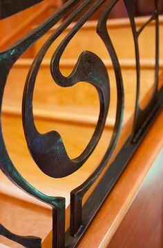 Railing by artist blacksmith jake james.