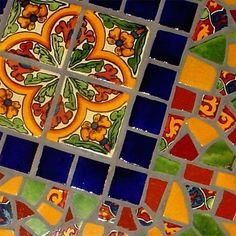 tile table top mosaic by carol.delashmit