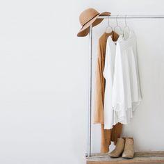 Warm clothing rack.