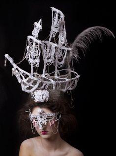 headdress of Marie Antoinette Backcombed Hairstyles, Rococo Dress, Secret Garden Parties, 18th Century Fashion, Pirate Life, Love Hat, Oui Oui, Marie Antoinette, Headgear