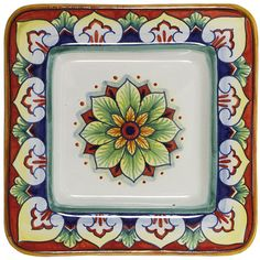 Italian Ceramic Square Plate - One of my personal favorites for a holiday gift!  $69