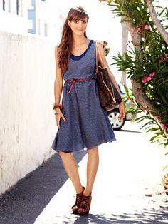 Schnittmuster: Sommerkleid mit Unterkleid - Kleider - Damen - burda style
