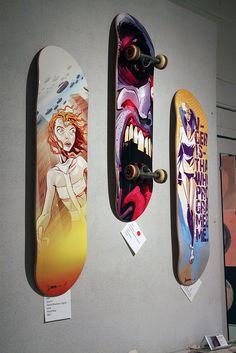 Derek Ring skateboard art