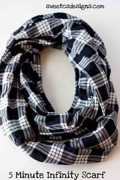 Sewing Ideas for Clothes | DIY Infinity Scarf Tutorial