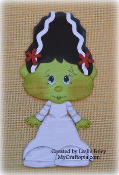 Bride Frankenstein Premade Halloween Scrapbooking by MyCraftopia, $5.95