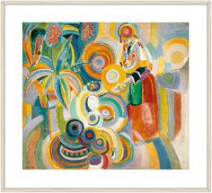 Tall Portuguese Woman - Delaunay, Robert & Sonia (French, 1885 - Fine Art Reproductions, Oil Painting Reproductions - Art for Sale at Galerie Dada Sonia Delaunay, Robert Delaunay, Henri Fantin Latour, Georges Braque, Famous Art Paintings, Oil Paintings, Francoise Gilot, Oil Painting Gallery, Oil Painting Reproductions