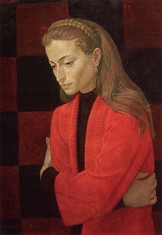 Дмитрий Жилинский. Портрет Татьяны Лисицкой. 1976