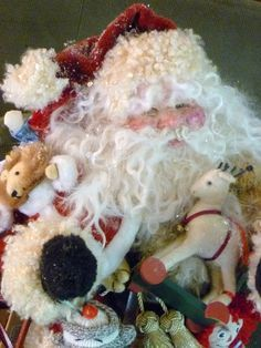 One Of A Kind Santa Claus Art Doll With Vintage by talulahrose