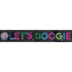 "Get ready to get down! The Disco Fever Foil Banner is ready to get this party started! This fun foil banner features a disco ball image with the words ""Let's Boogie"" in fun, 70s style print. This eye"