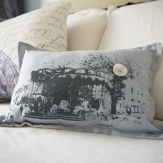 vintage style paris carousel cushion by amanda jane's | notonthehighstreet.com