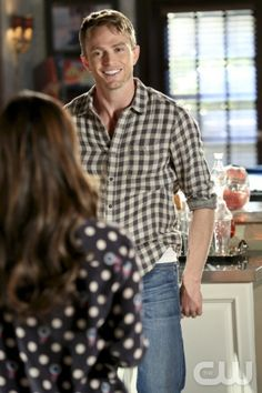 Hart of Dixie - Why Dont We Get Drunk? -- Pictured (L-R): Rachel Bilson as Dr. Zoe Hart (back to camera) and Wilson Bethel as Wade -- Image Number: HA218a_124b.jpg Photo: Robert Voets/The CW -- © 2013 The CW Network, LLC. All rights reserved.