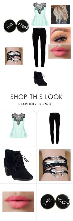 """Cute or nah"" by friends-forever-and-always ❤ liked on Polyvore featuring City Chic, J Brand, Clarks and LORAC"