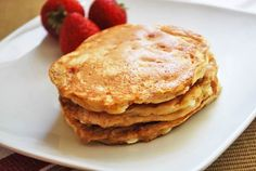 Cottage Cheese Pancakes Recipe | In these cottage cheese pancakes, the low ratio of flour to cheese, plus the cottage cheese curds that get melted as you cook the pancakes, result in delicate, moist and very flavorful little cakes – so good in fact that they do not need syrup.