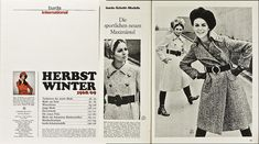 Burda International H/W 68/69 SH 17/68 | eBay Mantel, Online Price, 1960s, Best Deals, Ebay, New Fashion, Fall Winter, Sporty, Guys
