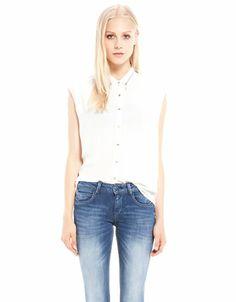 Bershka Latvia - Bershka neck zipper shirt