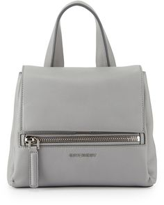 Givenchy Pandora Pure Mini Leather Satchel Bag, Gray