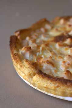 Pastel de York y Queso con Base de pan de molde.