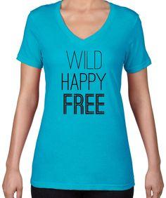 Happy Wild Free V-Neck