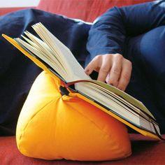 Book Rest Bean Bag: http://missgeeky.com/2012/07/04/me-wantz-book-rest-bean-bag/#
