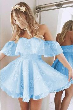 Great Lace Prom Dress, Homecoming Dresses Short, A-Line Homecoming Dresses, Cute Homecoming Dresses - Prom Dresses For Teens, Cute Prom Dresses, Dance Dresses, Dresses Dresses, Dress Prom, Pretty Teen Dresses, 8th Grade Prom Dresses, Summer Dresses, Tight Dresses