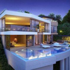 Beautiful Hilltop Bird Street Estate designed by Vantage Design Group located in Los Angeles, California!