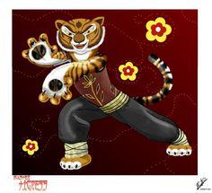 My favorite character from Dreamworks' Kung Fu Panda.Master Tigress, she's just so cool! Kung Fu Panda Cake, Panda Cakes, Dreamworks, Tigger, Bowser, Disney Characters, Fictional Characters, Deviantart, Image