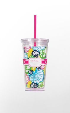 Yyou can now sip and slurp with a stylish Lilly Pulitzer tumbler with straw! Keep cool with your iced coffee to go, or tote your iced tea to the pool in these decorative acrylic tumblers with straw. Then keep yourself hydrated at the office or in class with these designer tumblers.
